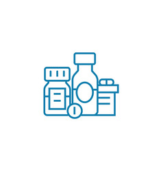 medications linear icon concept medications line vector image