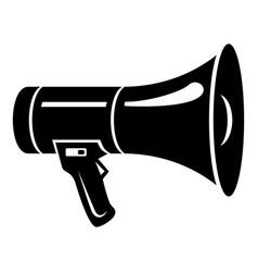 megaphone icon simple black style vector image