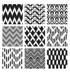 monochrome zig zag seamless pattern flat vector image