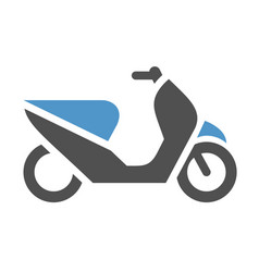 Motor scooter icon vector
