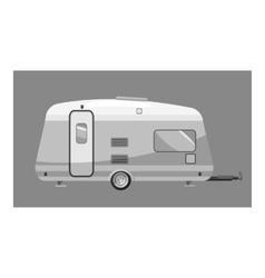 Motorhome icon gray monochrome style vector