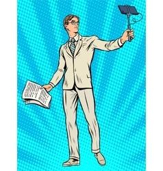 Narcissism businessman apollo narcissus makes vector