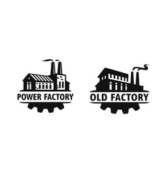 old factory black logo industrial vector image