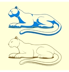 Panther emblem color version vector