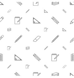 Pencil icons pattern seamless white background vector