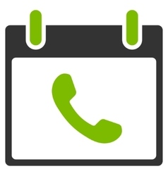 Phone Calendar Day Flat Icon vector image