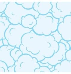 Pop art smoke seamless pattern blue vector image