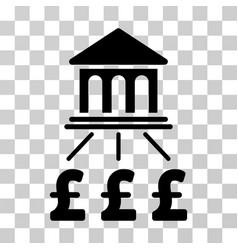 Pound bank scheme icon vector