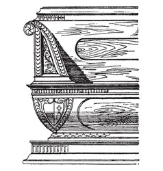 Renaissance bench vintage vector