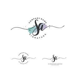 s a initial letter handwriting and signature logo vector image