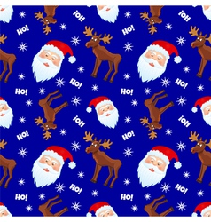 santa and moose vector image