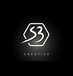 Sb s b brushed letter logo design with creative vector