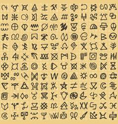 Seamless pattern digital art ritual symbols and vector