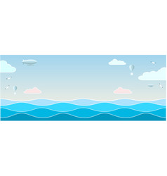 seascape with waves vector image