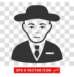 Secret Service Agent EPS Icon vector