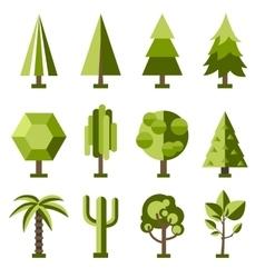 set stylized tree vector image