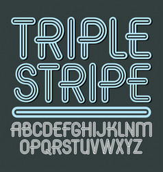 Set trendy capital alphabet letters isolated vector