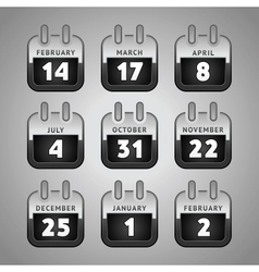set web calendar icons vector image