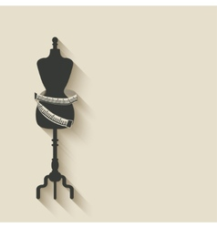 Sewing mannequin background vector