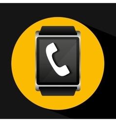 Smart watch concept telephone social media vector
