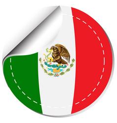 Sticker design for flag of mexico vector