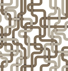 tangled connections seamless pattern vector image
