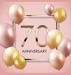 Template 70 years anniversary background with vector