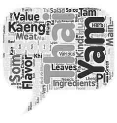 The Charm Of Thai Food text background wordcloud vector