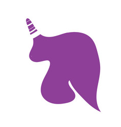 unicorn or horse logo template for print vector image