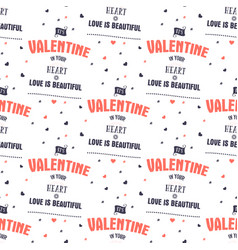 valenines day pattern it s valentine in your vector image