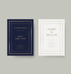 Vintage luxury wedding invitation card vector