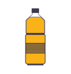 water bottle icon in color sections silhouette vector image