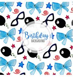 Watercolor happy birthday background vector