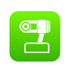 Webcam icon digital green vector