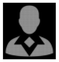 white halftone guy icon vector image