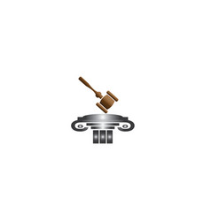 wooden judge gavel and auction hammer law vector image