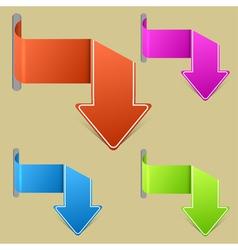 arrow banners vector image