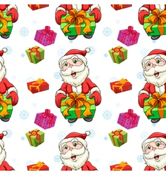 santa claus and gifts vector image vector image