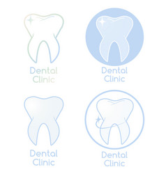 set of dental clinic logotypes vector image