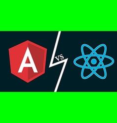 angular vs react vector image