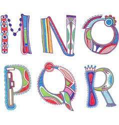 ABC font Sketchy alphabet design vector image vector image