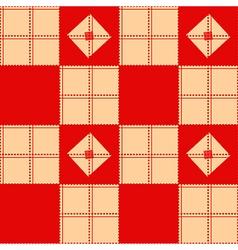 Chessboard Beige Red Background vector image