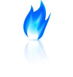 Gas fire icon vector image