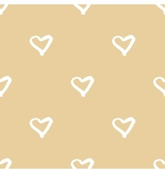 Seamless pattern with hand drawn heart vector image