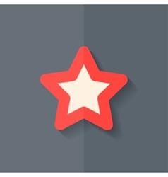 Star favorite sign web icon Flat design vector image