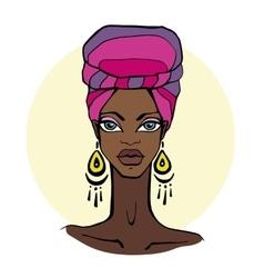 African Beautiful Woman Portrait vector image
