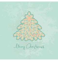 Merry Christmas card with Christmas tree vector image vector image