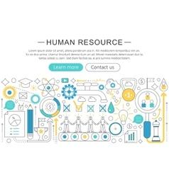 modern line flat design Human resource vector image