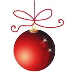 Red Christmas ball decoration vector image vector image
