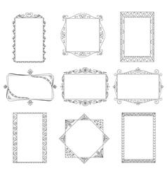 Set of doodle frames vector image vector image